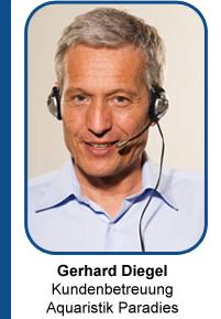 Gerhard Diegel Kundenbetreuung Aquaristik Paradies