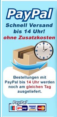 Paypal Schnell Versand bis 14 Uhr!